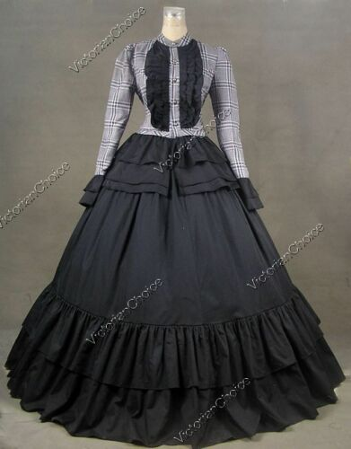 Victorian Costumes: Dresses, Saloon Girls, Southern Belle, Witch    Victorian Harry Potter Witch Dress Punk Adult Reenactment Halloween Costume C008 $149.00 AT vintagedancer.com