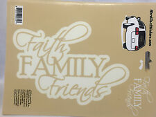 Faith Family Friends Vinyl Decals Auto Truck Bumper Window Scrapbook Stickers