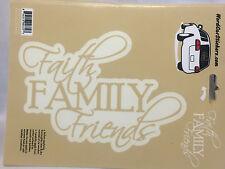 Faith Family Friends Vinyl Decals Auto Truck Bumper Window Scrapbook Stickers