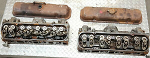 Pair-1981-Turbo-Pontiac-Firebird-Trans-Am-301-Cylinder-Heads-w-screw-in-studs