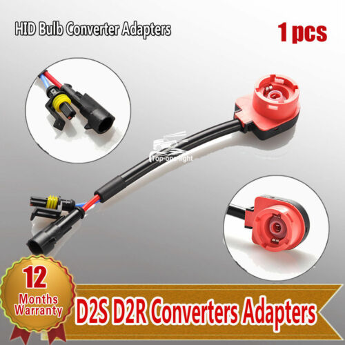 1pc Red AMP Type HID Headlight Bulb Adapter Converter Socket for D2R D2S D4R D4S