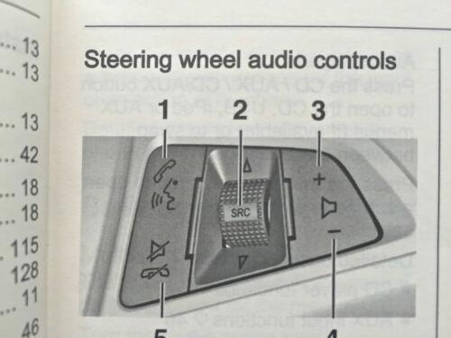 Vauxhall ASTRA J Hatch /& Tourer CD 300 400 NAVI 900 600 AUDIO OPERATING MANUAL