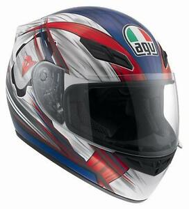 CASCO-AGV-K-4-EVO-HANG-ON-BLANCO-ROJO-AZUL-talla-XL