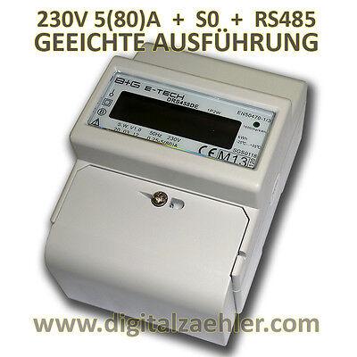 MID geeichter LCD Wechselstromzähler Stromzähler RS485 Modbus S0 Hutschiene