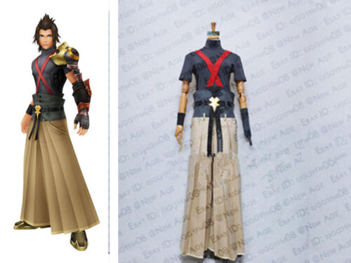 Hot Kingdom Hearts Terra Cosplay Costume Outfit Pants Gloves Belt Sleeves Shirt