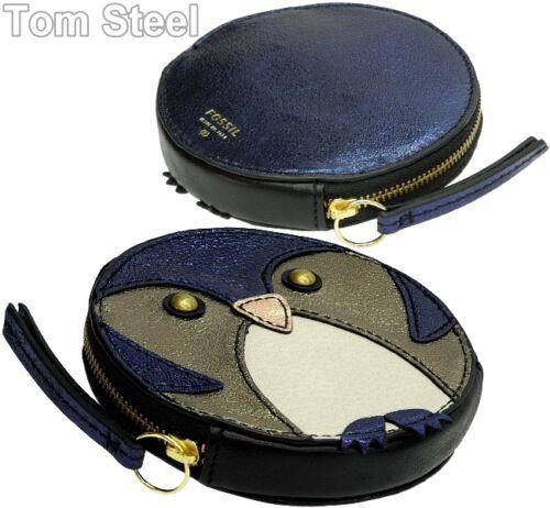 FOSSIL Damen-Geldbörse Portemonnaie Pinguin blau Geldbeutel Geldtasche Leder Neu