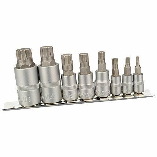 XZN Jeu de 8 Douilles à Dents Multiples M4 M5 M6 M8 M10 M12 M14 M16