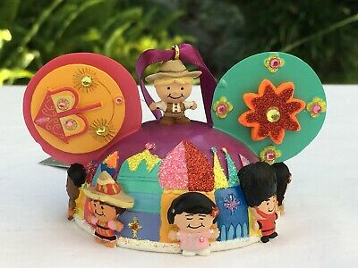 Disney It/'s A Small World Ear Hat Christmas Ornament NEW