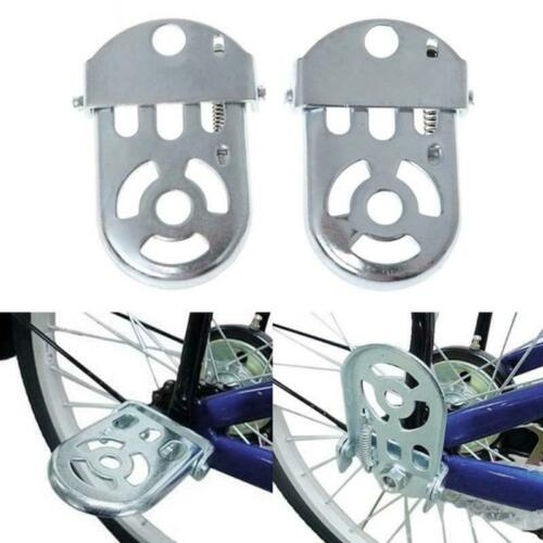 Bicycle Rear Seat Safety Back Seat Bike Feet Pedals Folding YS