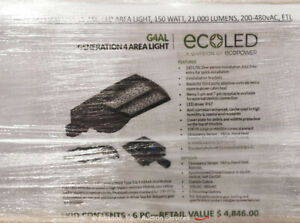 Lot of (6) Ecopower G4AL150WNWV55-ASL Generation 4 LED Area Lights bidadoo -New