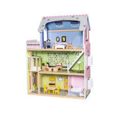 Puppenhaus XXL 29-teilig Holzpuppenhaus Spiel Kinder Spass PLAYTIVE JUNIOR