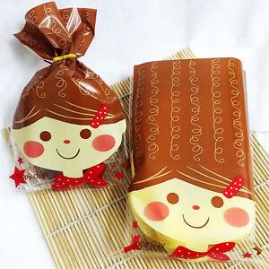 long-hair-doll-bread-food-gift-favor-cellophane-cello-bags-twist-tie-party-EW