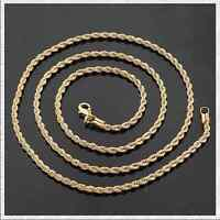 Men's 14k Gold Plated Link Chain Necklace Fashion Jewelry