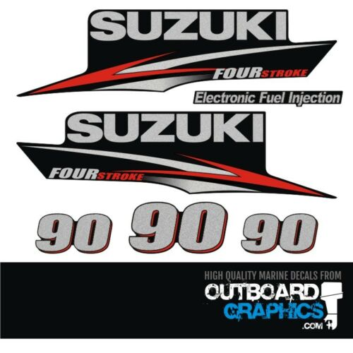 Suzuki DF90 four stroke outboard engine decals//sticker kit