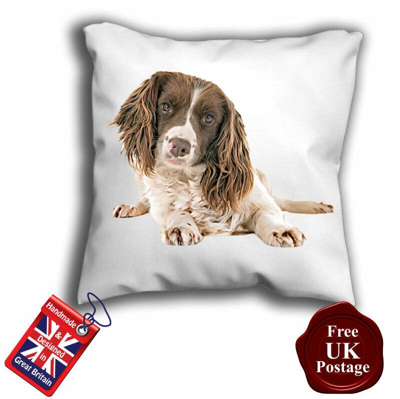 English Springer Spaniel Cushion Cover, English Springer Spaniel Cushion,