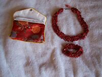 Red Coral Bracelet (stretchable) & Necklace (18)tgw 600.00 Cts $159.99
