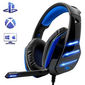 Details about Gaming Headset Headphones for PS4 Xbox Ones PC Noise  Reduction Mic Clarity 3 5mm