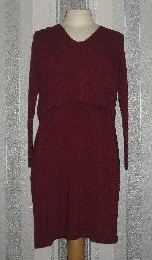 Isabella Oliver Webber Maternity Nursing Dress, Claret  Size 1 =