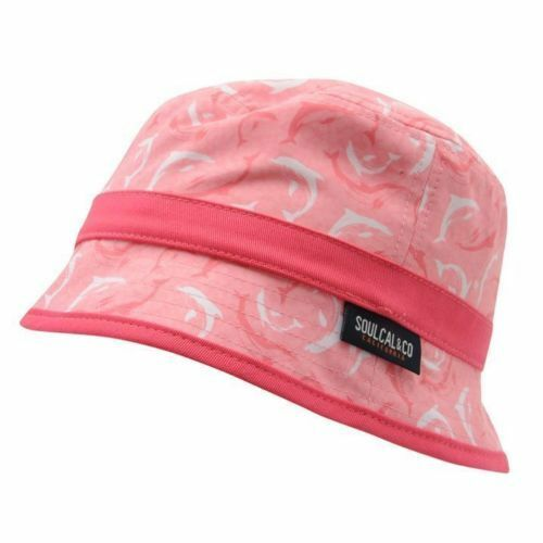 SOULCAL PRINTED PINK CERES JUNIOR HAT SUN LIGHTWEIGHT KIDS GIRLS BOYS SUMMER .