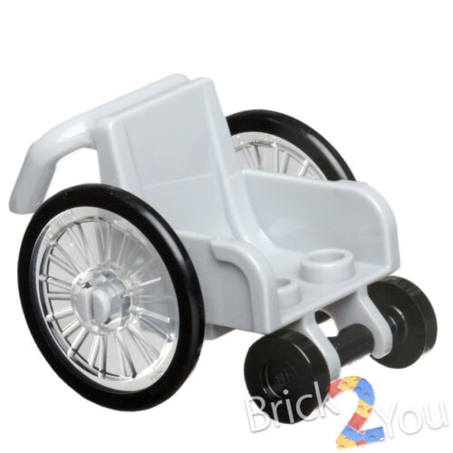 LEGO Wheelchair with Trans-Clear Wheelchair Wheels From 60134 Fun in the Park