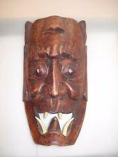 Afrikanische Maske mit Zähnen Holzmaske African Mask Wood Holz
