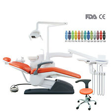 Dental Unit Chair Hard Leather Computer Controlled Fdace Approved Dc Motorampstool