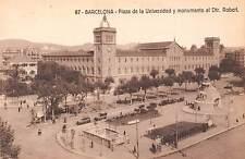 Spain Barcelona - Plaza de la Universidad y monumento al Dtr. Robert