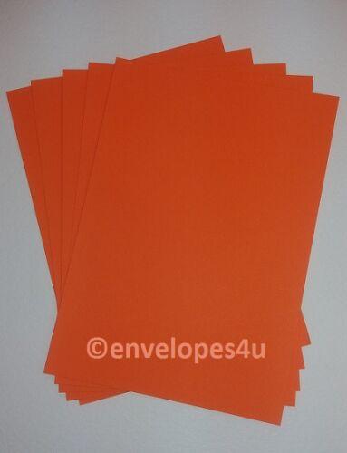 wedding invitations, A4 Orange 240gsm card cardmaking papercraft