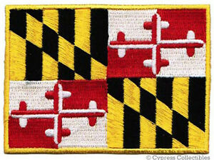 MARYLAND-STATE-FLAG-embroidered-iron-on-PATCH-EMBLEM-MD-applique