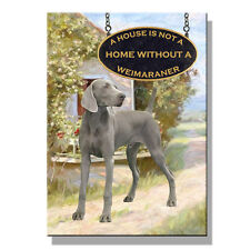 "Sku# 42 Tassel Bookmark /""Weimaraner/"" A House Isn/'t Home flag gold tassel"