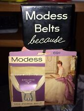 2 Vintage 1950's Mint In Box Unopened Modess Sanitary Belt,Retail Display Stand