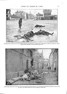 """WWI Bombardement Falaises de l'Aisne Ruines Soissons Chevaux Obus A ILLUSTRATION - France - Commentaires du vendeur : """"OCCASION"""" - France"""