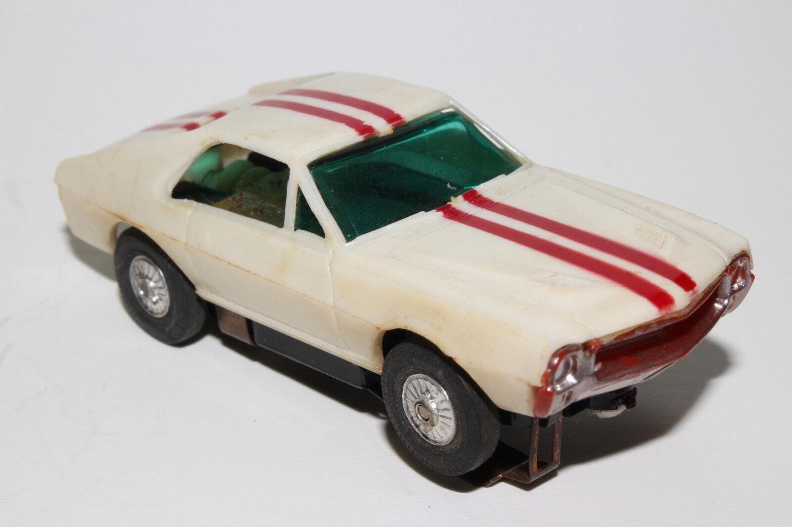 Tyco Elettrico Racing Slot Auto, 1968-69 Amx Bianco con Righe Rosse , Originale