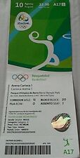 TICKET 10.8.2016 Olympic Games Rio Basketball Men's Venezuela - VR China # A17