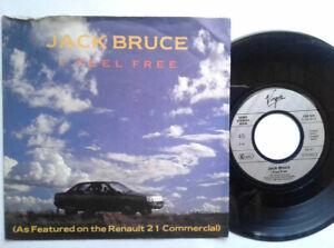 """Jack Bruce / I Feel Free 7"""" Vinyl Single 1986 mit Schutzhülle"""