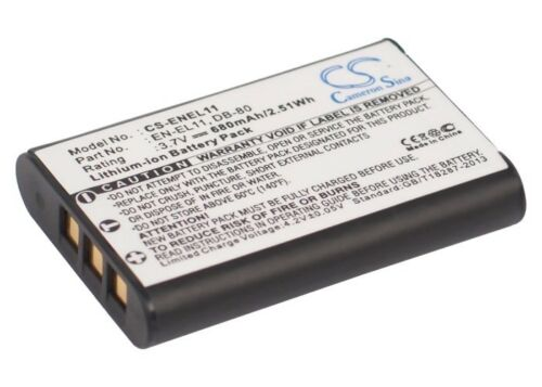 Batterie 680mAh type D-Li78 EN-EL11 Li-60B Pour Pentax Optio S1