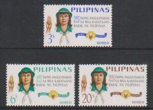 Filippine-1968-SILVER-JUBILEE-di-Girl-Guides-Set-Gomma-integra-non-linguellato-SG-1018-20
