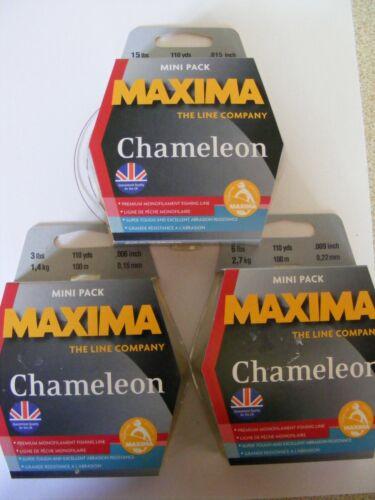 Maxima Chameleon 100m spools 15lb breaking strain nylon fishing line 3lb