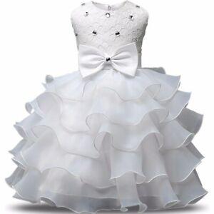 Vestidos De Fiesta Cumpleaños De Niña y Para Bodas Bautizos Niñas Elegantes