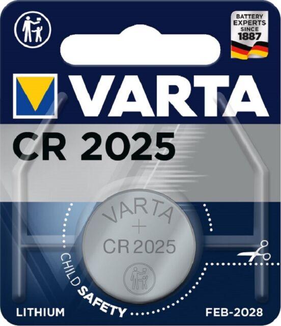 50 X Varta Cr 2025 CR2025 Bouton 3V 1er Blister