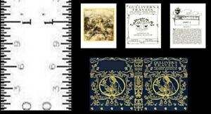 """1:24 Scale Book GULLIVER/'S TRAVELS Illustrated Miniature Book Dollhouse 1//2/"""""""