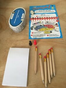 Dicecapades-Game-Replacement-Parts-Notepad-Pencils-Movers-Cards-2007