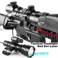 Red Dot Laser&Cree Q5 1200Lumen Flashlight&Barrel Mount Adapter &Pressure Switch