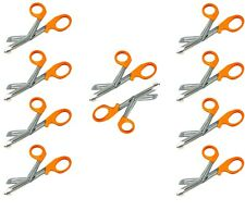 10 New Utility Scissors Emtems Shears 725orangebandage Paramedic Supply Eco