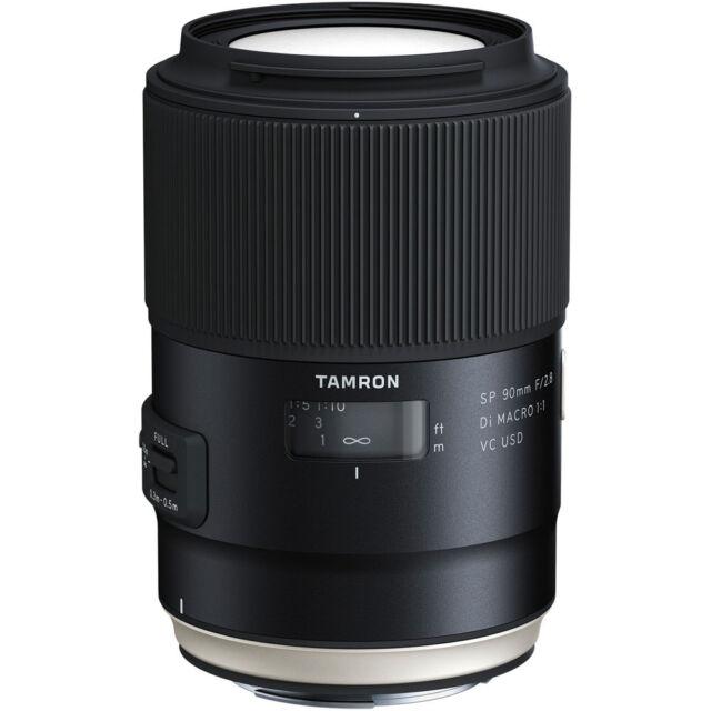 Tamron SP 90mm F2.8 Di Macro 1:1 VC USD Lens in Canon Fit (F017)
