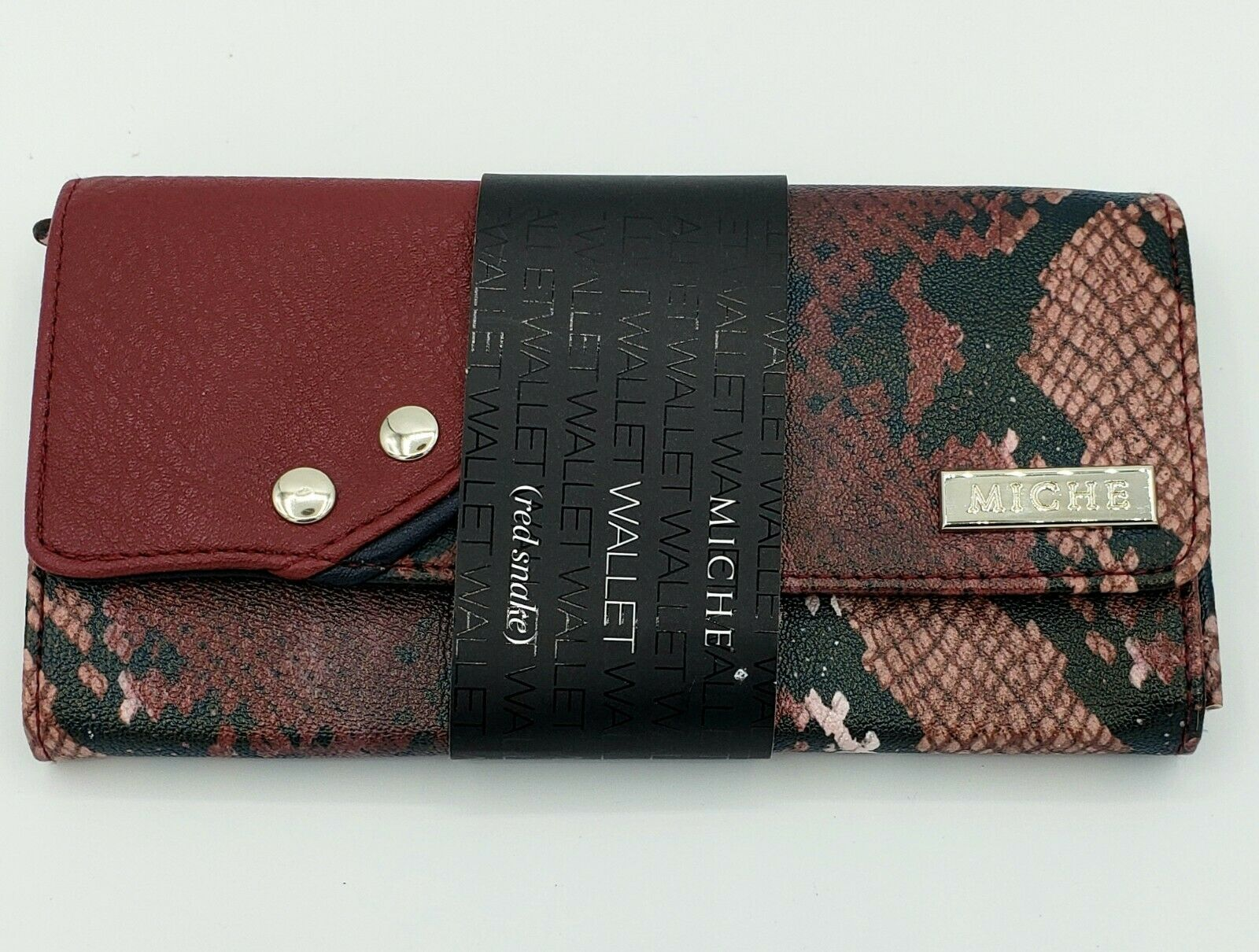 Miche Wallet Red Snake Wallet NEW Womens Red Snakeskin Wallet