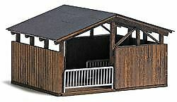 BUSCH-HO-SCALE-1-87-OPEN-STABLE-FOR-ZOO-BN-1584