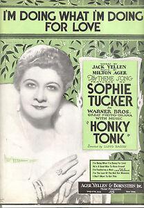 """Noten & Songbooks Honky Tonk Notenblatt """" I'm Doing What I'm Doing Für Liebe """" Sophie Tucker Elegant Im Stil"""