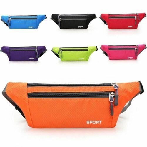 Waterproof Sports Runner Waist Bum Bag Running Jogging Belt Pouch Zip Pack UK