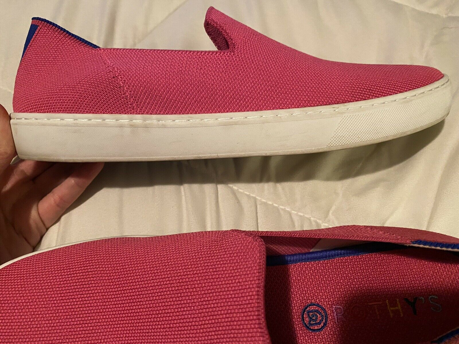 Rothys sneakers Bubblegum pink size 12.5 - image 4